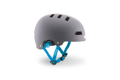 BlueGrass SUPERBOLD HELMET - GREY & CYAN (MATT)