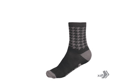 Houndstooth Sock (Twin Pack)