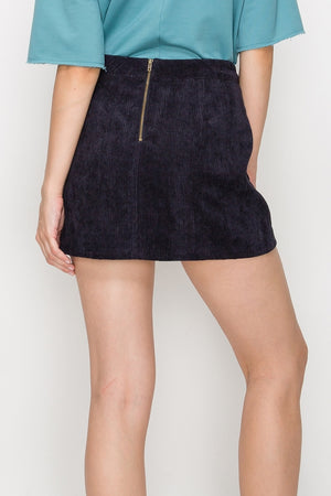 Corduroy Mini Skirt w/ Front Pockets | 4 Colors Available