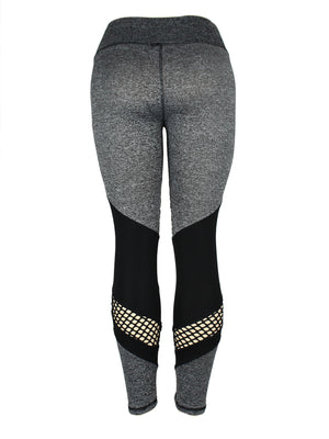Fitness Fishnet Peekaboo Leggings Pants