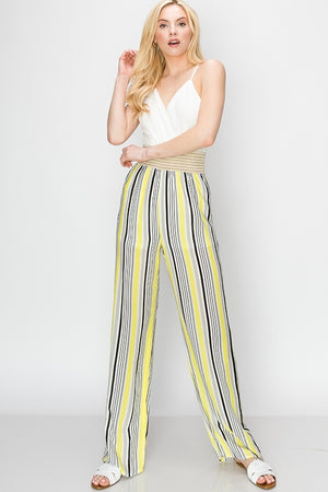 Shirred Waist V Neck Jumpsuit | 4 Colors
