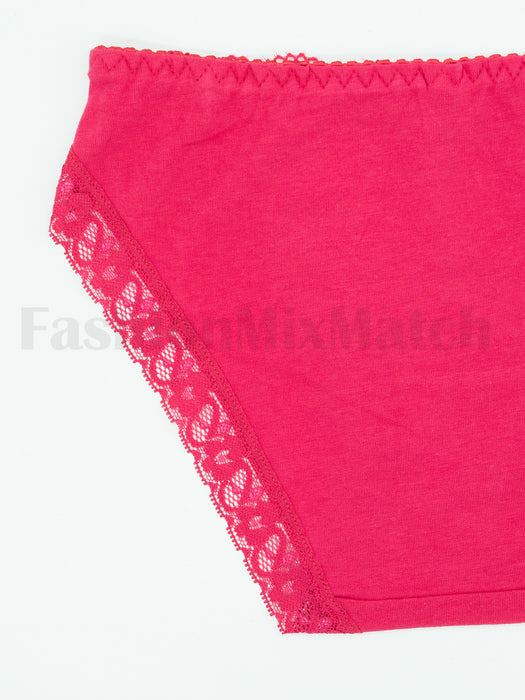 Lace Trim with Stone Panty