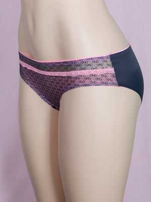 Seamless Front Lace Solid Panty (6pcs/PACK)
