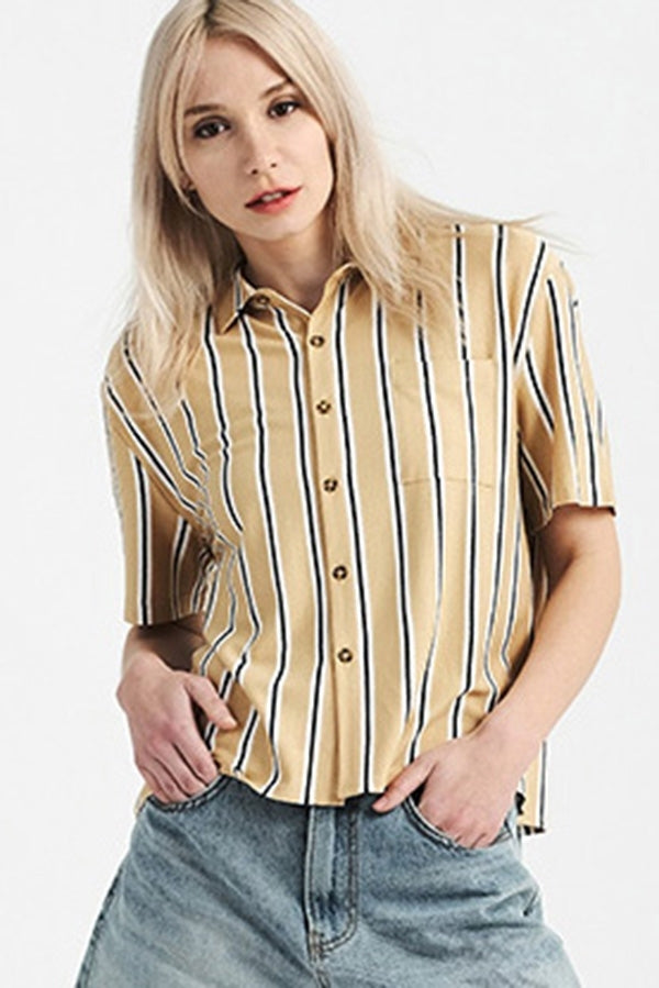 Short Sleeve Button Down Shirts | 2 Colors