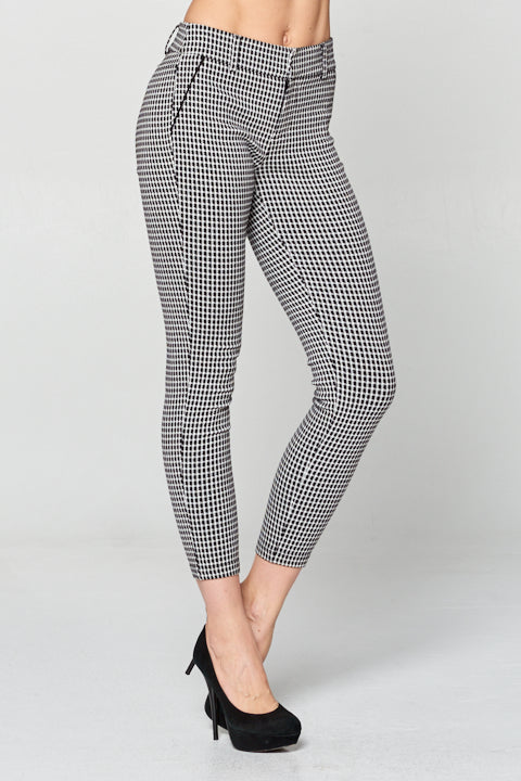 Plaid Black and White Gingham Pants
