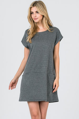 Plaided Casual Dress w/ Front Pockets