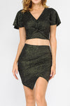 ITY Glitter Top + Skirt Set | 2 Colors Available