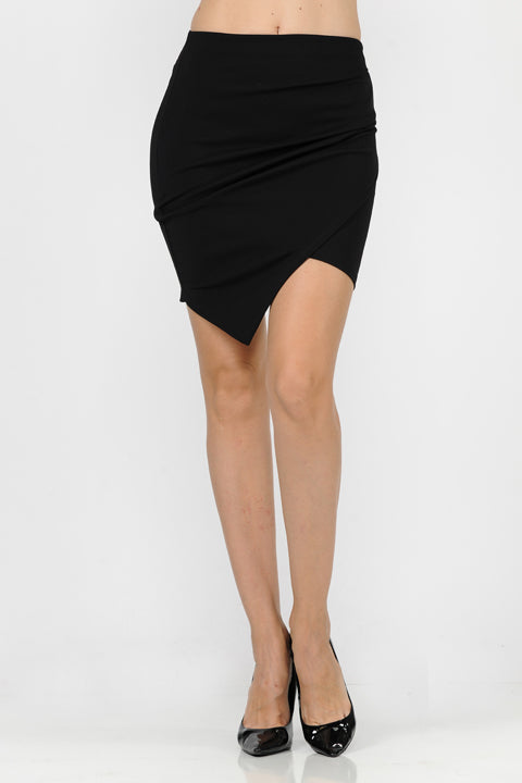Scuba Crepe Skirt | 2 Colors Available