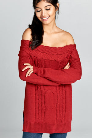 Off Shoulder Sweater | 2 Colors Available