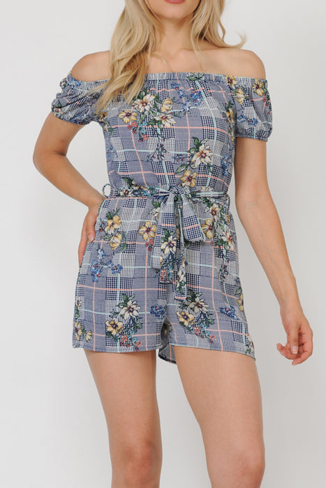 Bubble Crepe Print Romper | 2 Colors Available