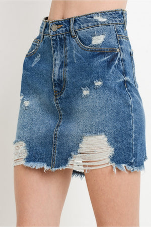 Destroyed mini skirt