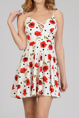 Scuba Crepe Floral Print Dress | 2 Colors Available