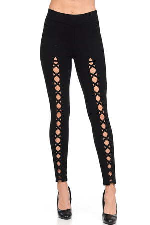 Criss Cross Detail Front Pants