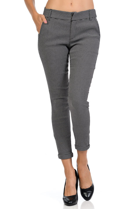 Jaquard Ankle Length Trouser