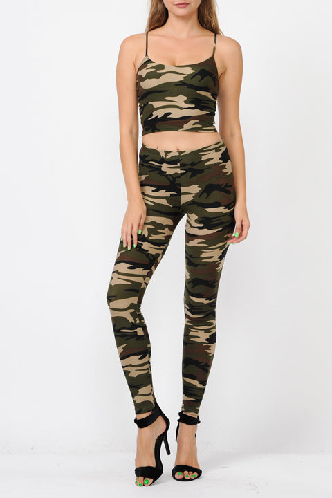 Super Soft High-Waisted Camo Leggings
