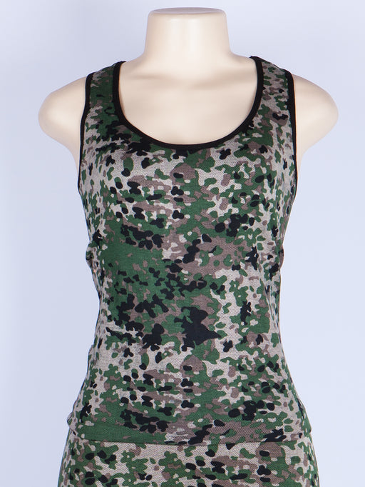 Camouflage Racerback Sports Tank Top & Pants Set