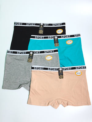 Cotton Comfort Sport Lettering Band Shortie Panty (Variety Pack) | 7 Colors