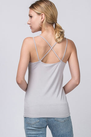 Strappy Detail Solid Tank Top | 5 Colors Available