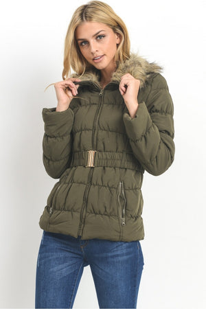 Fur Collar Women's Jacket | 4 Colors Available