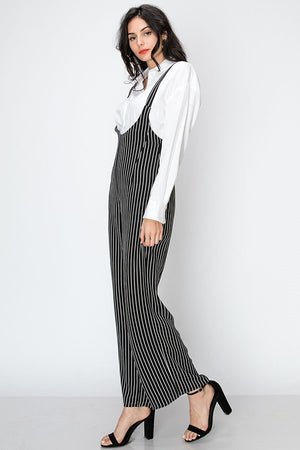 Stripe Suspender Jumpsuit | 2 Colors
