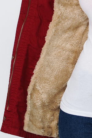 Jacket w/ Fur | 3 Colors Available