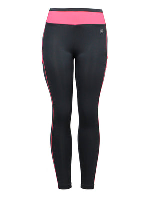 High Rise Color Waist Band Active/Fitness Pants | 2 Colors