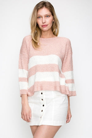 Block Stripe Sweater | 2 Colors Available