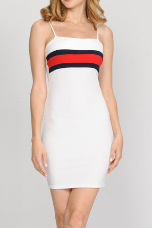 Scuba 2 Tone Color Block Dress | 2 Colors available