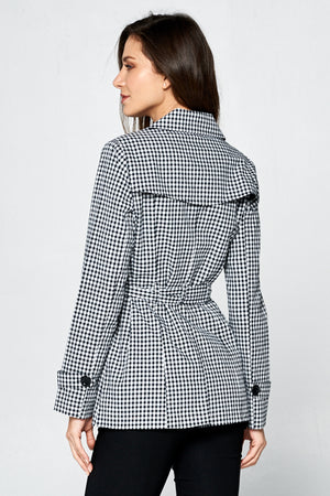 Checkered Jacket w/ Tie