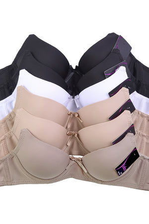 Silky & Smooth Neutral Color Bra (6pcs/PACK)