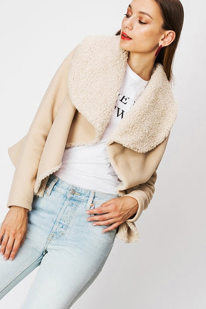 Faux Fur Collar Jacket | 4 Colors Available