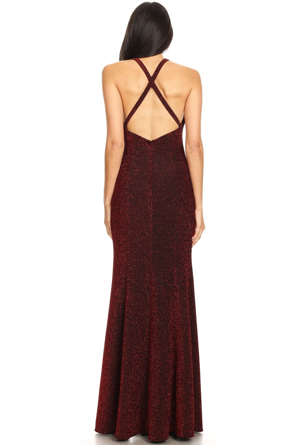 Solid Glitter Sleeveless Maxi Dress | 2 Colors