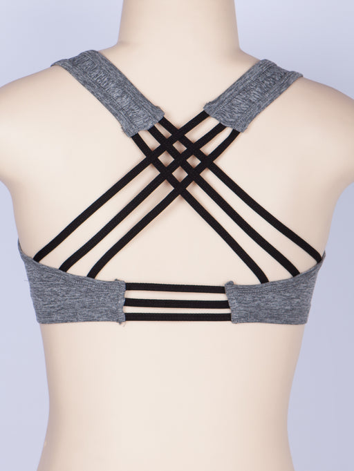 Cross Strappy Back With No Wire Sports Bra | 2 Colors