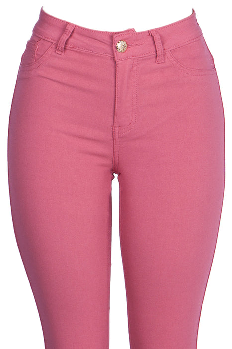 Mauve Color Basic Skinny Jean