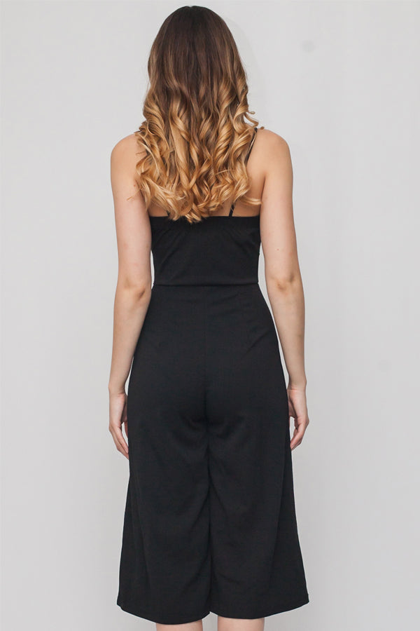 Spaghetti Strap Jumpsuit w/ Ribbon | 2 Colors Available