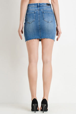 5 Pocket Denim Mini Skirt