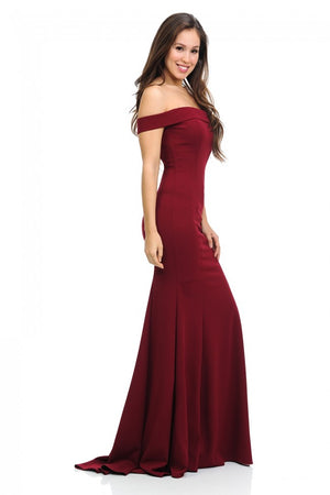 Off The Shoulder Flare Mermaid Formal Party Dress w/ Added Tail | 6 Colors