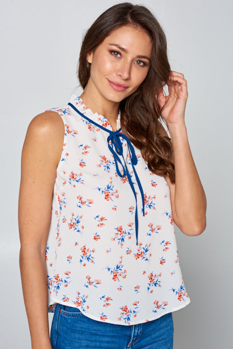 Koshibo Print Floral Print Top | 2 Colors