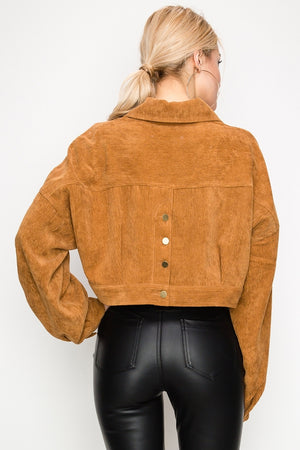 Corduroy Crop Jacket | 2 Colors Available