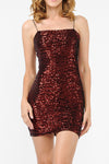 Sequin Square Neck Cami Bodycon Dress | 3 Colors Available