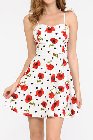 Floral Print A-Line Cami Dress | 2 Colors
