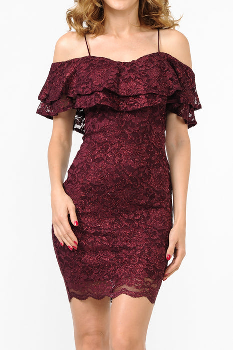 Glitter Lace Dress | 3 Colors available