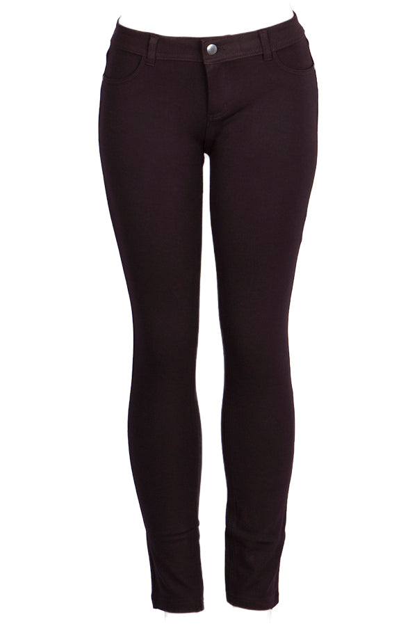Mid Rise Black Jeggings