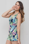 Plunge Neck Floral Print Romper | 2 Colors Available