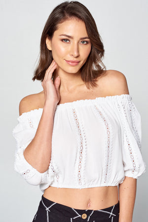 Crop Rayon Gauze Top | 2 Colors