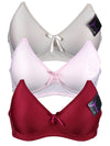 Rich Simple Bow No-Wire Bra (3pcs/PACK)