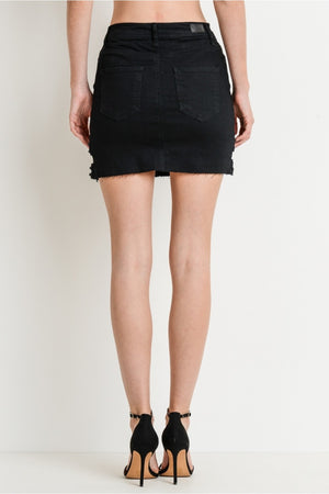 Bottom cut styled mini skirt