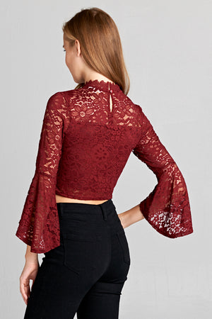 Lace Bell Sleeve Top | 3 Colors Available