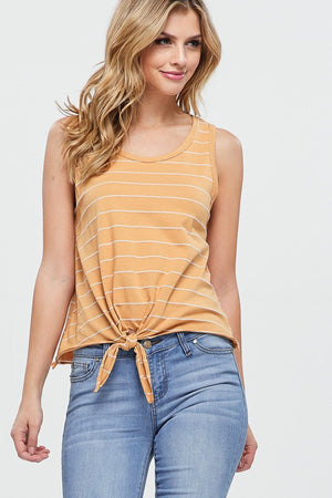 Stripe Tie Front Tank | 2 Colors