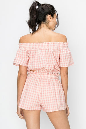 Gingham Print Two Piece Set | 2 Colors